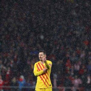 Leo Messi sol Barca senyera Atletic EFE