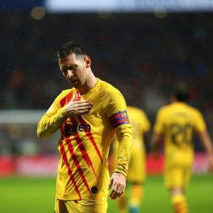 Messi pit escut Barca senyera Atletic EFE