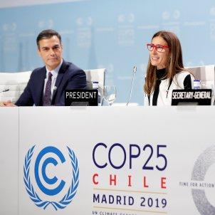 Pedro Sánchez Carolina Schmidt António Guterres Cimera Clima COP25 Madrid EFE