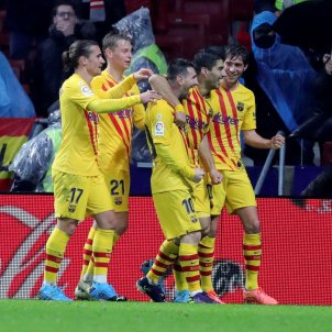 Messi Luis Suarez Sergi Roberto Griezmann De Jong Barca senyera Atletic EFE