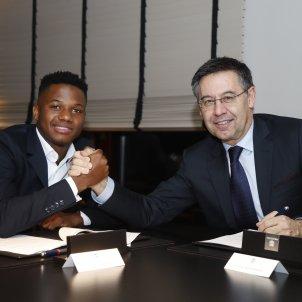 Ansu Fati renova Josep Maria Bartomeu Barca FC Barcelona