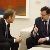 EuropaPress 1029856 MARIANO RAJOY SE REUNE CON EL PRESIDENTE DEL CONSEJO EUROPEO DONLA TUSK