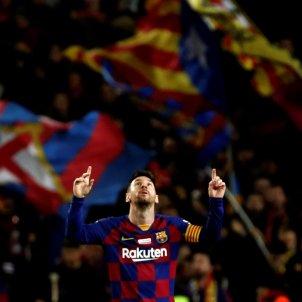 Leo Messi sol Barca Mallorca EFE