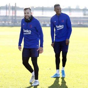 Jordi Alba Semedo Barça entrenament FC Barcelona