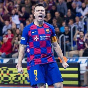 Barça futbol sala Sergio Lozano celebració FC Barcelona