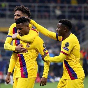 Ansu Fati Wague Todibo Inter Barca EFE