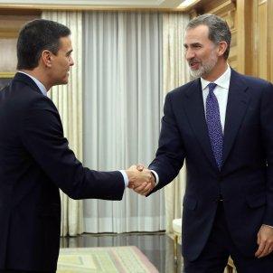 Pedro Sánchez consultes investidura Rei - Efe