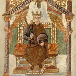Carles, fill de Lluís i Judit, primer rei de França. Font Bibilothèque Nationale de France