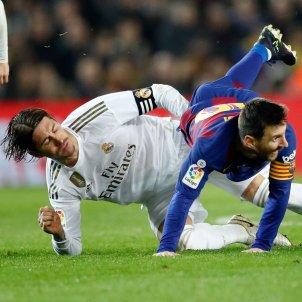 Leo Messi Sergio Ramos Barca Reial Madrid EFE