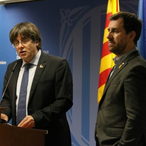 Carles Puigdemont Toni Comín roda d epremsa Brussel·les 19 desembre 2019 ACN