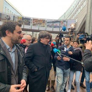 Puigdemont i Comín arriben al Parlament Europeu