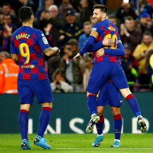 Luis Suárez Messi Barça EFE