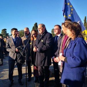 Europa Press El presidente de la Generalitat Quim Torra en la ofrenda anual a la tumba del expresidente de la Generalitat Francesc Macià