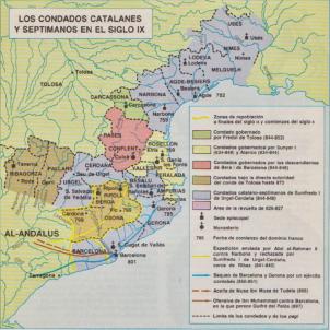 Test 86. Els comtats catalans carolingis. Font Wikimedia Commons