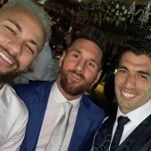Messi Neymar Suarez celebracio @neymarjr