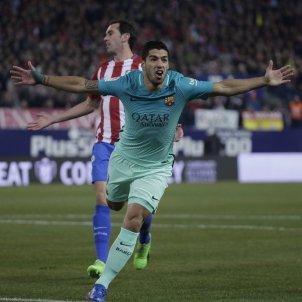 Luis suarez gol Atletico Madrid Barça Copa Rei EFE
