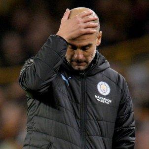 Pep Guardiola Manchester City trist Wolves EFE