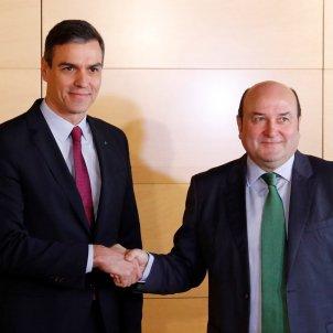 Pedro Sánchez i Andoni Ortúzar EFE