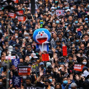Protestes Hong Kong Any Nou Doraemon Efe