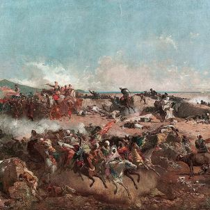 Voluntaris Catalans. Batalla de Tetuan. Marià Fortuny (1862)