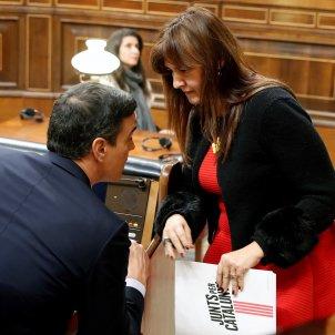 Laura Borràs Pedro Sánchez - EFE