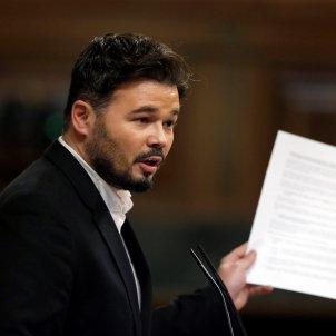 Gabriel Rufian debat investidura - EFE