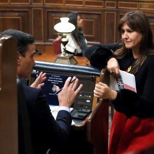 Pedro Sánchez Laura Borràs debat investidura EFE