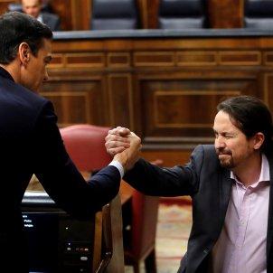 Pedro Sánchez Pablo Iglesias debat investidura EFE