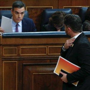 Pedro Sánchez Gabriel Rufian debat investidura Congres EFE