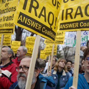 EUA manifestació guerra Irak   EFE