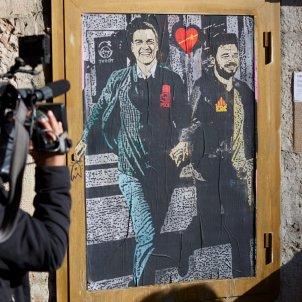 grafiti Sanchez rufian agafat ma - Efe