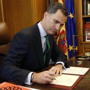 Felip VI firma convocatoria