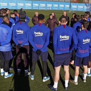 Valverde ultim entrenament Barca @FCBarcelona