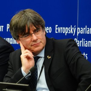 Puigdemont Comin roda de premsa Parlament Europeu - Roberto Lázaro