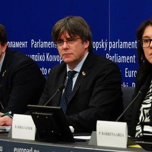 Puigdemont Comin Diana Riba roda de premsa Parlament Europeu - Roberto Lázaro