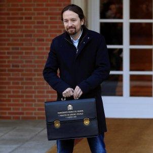 Pablo Iglesias Consell de Ministres primera reunió EFE