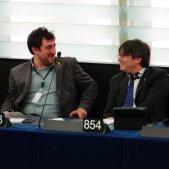 Puigdemont i Comín Parlament Europeu Roberto Lázaro