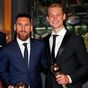 Ter Stegen Messi De Jong FIFA The Best @frenkiedejong