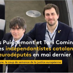Puigdemont Comin France Info