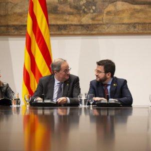 reunio taula partits catalans Generalitat Torra Aragonès Budó Capella - Sergi Alcàzar Sergi Alcazar