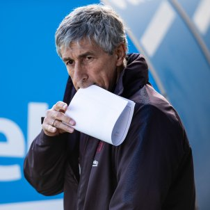 Quique setien entrenador Barca Europa Press