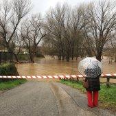 Riu Ter desbordat Girona Pont Major - ACN