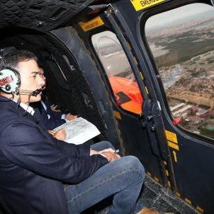 Pedro Sánchez Orihuela helicopter - Europa Press