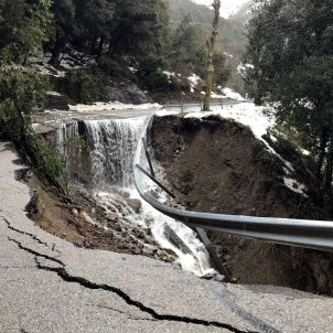carretera tallada temporal gloria - ACN