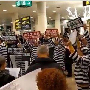 Protesta aeroport el prat @assumptabolta