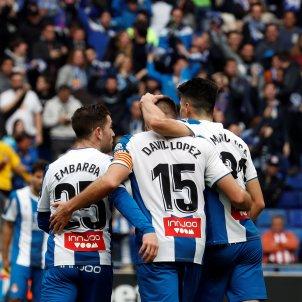 Espanyol celebracio gol Embarba David Lopez Athletic EFE