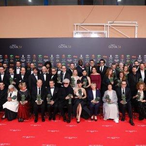 EuropaPress 2612791 Foto de famialia de todos los premiados de la XXXIV edición de los Premios Goya en Málaga (Andalucía España) a 25 de enero de 2020