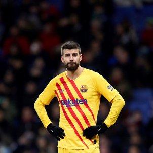 Gerard Piqué Barça samarreta senyera plorant EFE