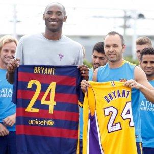 Kobe Bryant Iniesta Barça FC Barcelona