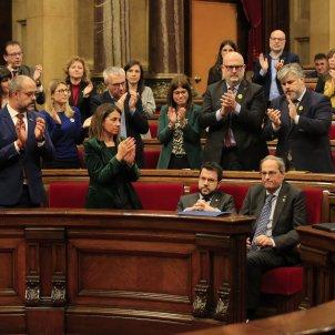 Aplaudiments JxCat al discurs del president Quim Torra Parlament- Sergi Alcàzar